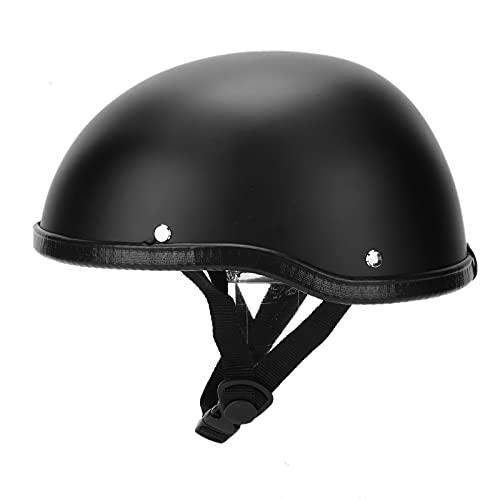 Helme Motorrad Halbhelm, Halbschale Jet-Helm Roller-Helm Retro Motorrad-Helm Scooter-Helm Bobber Mofa-Helm für Männer & Frauen Sommerhelm schädelkappe Offener Motorradhelm Matt Black