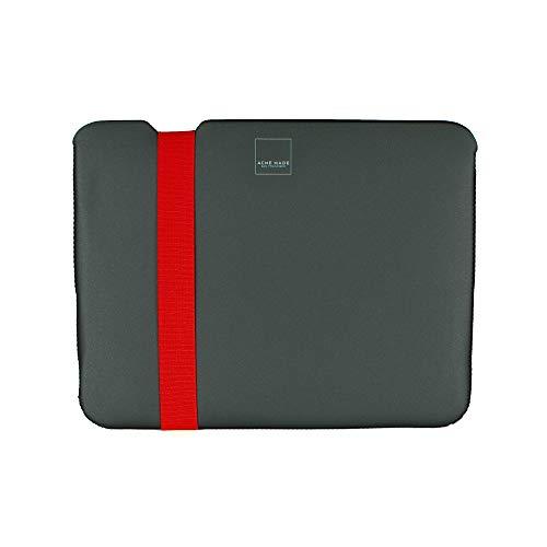 Acme Made Skinny Sleeve XXS, Ultra-dünne Tablet- & Notebookhülle, 11-12 Zoll, Neopren, grau/orange