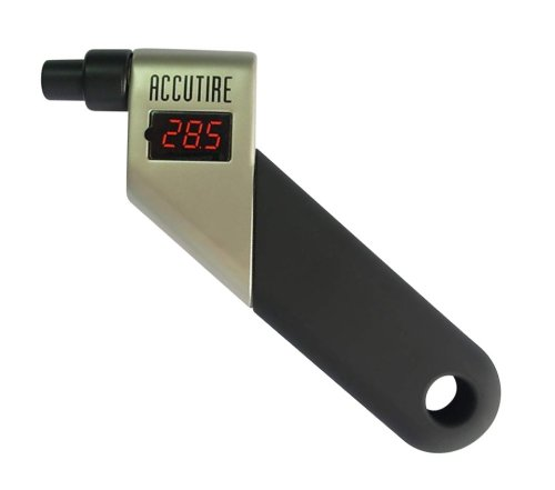 Accutire MS-4445B Programmable Talking Tire Gauge with Lighted Tip and Storage Case