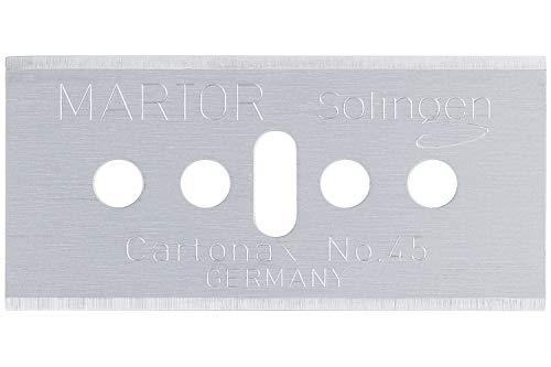 Martor 45.60 Industrieersatzklinge CARTONAX 10 Stück, Silber, 39 x 0,3 x 18,4 mm