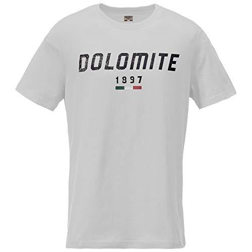 Dolomite Camiseta Settantasei MT Tricot Mixte, Blanc, XL