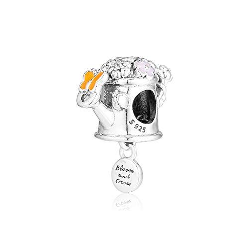 LILANG Pandora 925 Pulsera de joyería Encantos de Mariposa Decorativos Naturales Ajuste Original Cuentas de Plata esterlina para Hacer Hombres Bijoux Bead Mujeres Regalo de Bricolaje
