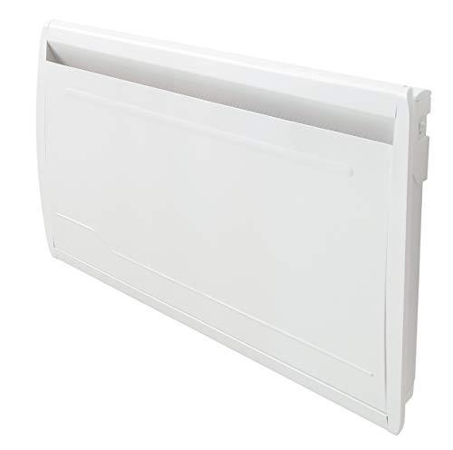 Deltacalor - Radiador eléctrico delicado de 2000 W – Radiador calorífico eléctrico WiFi – Resistencia a la suciedad seca de piedra natural – Programación semanal – Habitaciones de hasta 24 m², blanco
