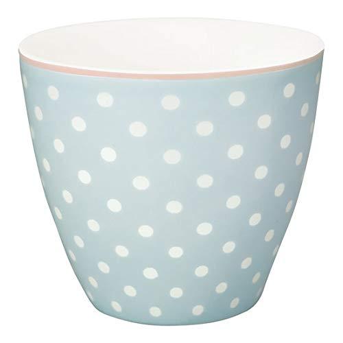 GreenGate - Tasse - Becher - Kaffeetasse - Spot - Porzellan - hellblau - 300 ml
