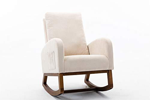Taghua Modern Nursery Rocking Chair, Comfortable Relax Rocking Chair, Lounge Chair Relax Sofa Chair for Living Room Home