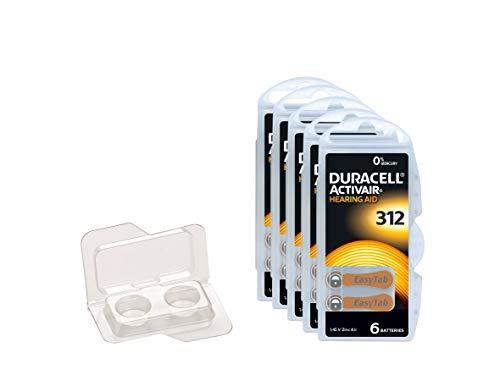 Duracell Easytab/Activair Typ 312 Hörgerätebatterie Zinc Air P312 PR41 ZL3, Big Box Pack, 30 Stück