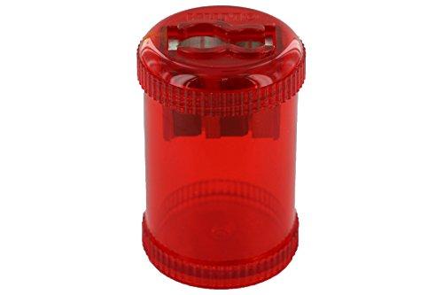 """KUM AZ103.28.19-R - Behälter-Doppelspitzer 430 M2 R, """"Der Runde"""", aus Magnesium, Schraubdeckel, rot, 1 Stück"""