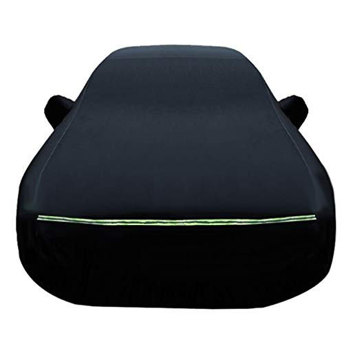 HH&WW Wasserdicht Car Cover-Staub-Beweis-Auto-Kasten-Schwarz-Auto-Abdeckung Indoor- und Outdoor-Car-Cover Kompatibel mit Chevrolet All Modelle (Color : Black, Size : Camaro)