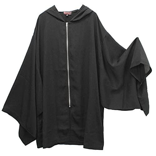 【Deorart ディオラート】 透け感 シアー素材 着物袖 ジップパーカー DRT2571 (M)