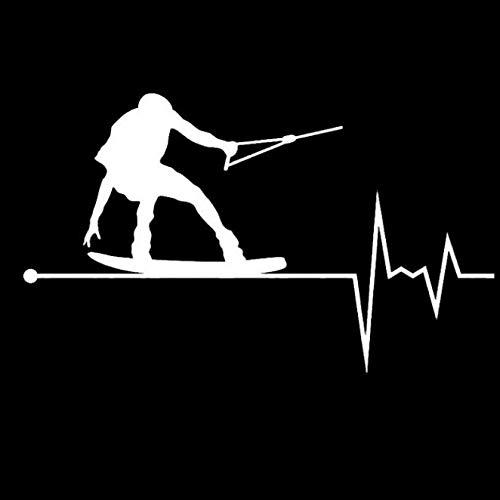 gsbyyön Auto Autoaufkleber Decal Aufkleber Stickers Motorräder Fahrrad Wakeboard In Meinem Herzschlag Puls Vinyl Auto Aufkleber 14.5Cm * 8.6Cm 2 Stücke