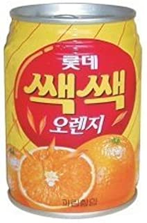 [BOX sale] Lotte section section Orange 238mlX 12 pieces - Korean food, Korean food, Korean drink, Korea drink vinegar, Korea beverages and drink -