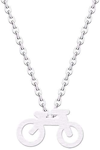 LKLFC Collier VTT Pendentif à breloque Collier Collier Minimaliste Bijoux Pendentif Collier Cadeau pour Femmes Hommes Filles garçons