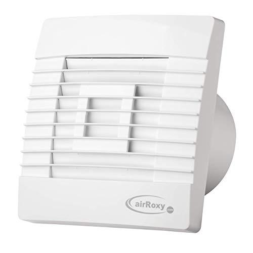 MKK Badkamerventilator met bewegingsmelder en automatische lamellen in wit Ø 120 mm 12 cm keuken badkamer hal toilet woonkamer ventilator
