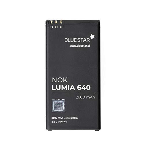 Blue Star Premium - Batteria da 2600 mAh Li-Ion de Capacità Carica Veloce 2.0 Compatibile Con il Microsoft Lumia 640