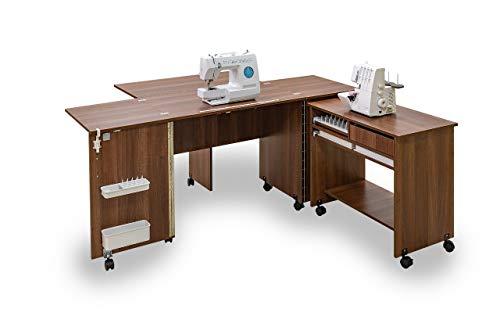 Comfort 7+ | Muebles para máquinas de coser y overlock | (Lakeland Acacia Light)