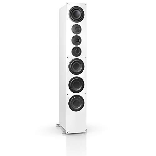 Nubert nuVero 140 Standlautsprecher   Lautsprecher für Musikgenuss   HiFi Qualität auf höchstem Niveau   Passive Standbox mit 3.5 Wege Technik Made in Germany   High End Standbox Weiß   1 Stück