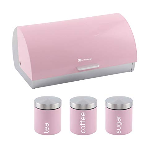 SQ Professional Dainty Bread Bin and Canisters - Appleblossom Pink