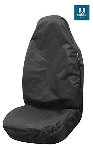 Fundas de asiento individuales resistentes al agua, color negro para adaptarse a Lancia Thema (84-94