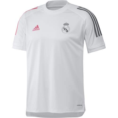 Adidas Real Madrid Temporada 2020/21 Camiseta Entrenamiento Oficial, Unisex, Blanco, L