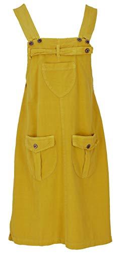 GURU SHOP Latzrock, Trägerkleid, Hippierock, Damen, Mustard, Baumwolle, Size:XL (42), Röcke/Kurz Alternative Bekleidung