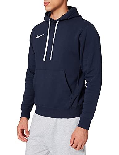 Nike Herren FLC Park20 Kapuzenpullover, Obsidian/White/White, L