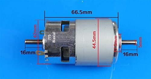 Elektromotor 80W 150W 288W Brushed DC Motor Rs 775 Rasenmäher-Motor mit Zwei Kugellagern bewertet 795 DC elektrische Bohrmaschine Motor 12 Drill 24V Getriebemotor (Speed(RPM) : 775 200W 15000rpm)