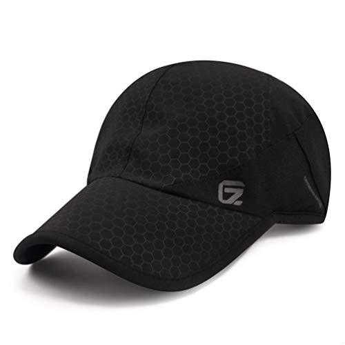 Sport Cap,Soft Brim Lightweight Waterproof Running Hat Breathable Baseball Cap Quick Dry Sport Caps Cooling Portable Sun Hats for Men and Woman Performance Cloth Workouts and Outdoor Activities Black