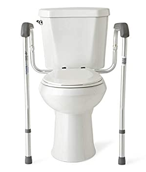 Medline Toilet Safety Rails Safety Frame for Toilet with Easy Installation Height Adjustable Legs Bathroom Safety