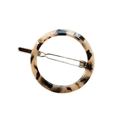 Haptian Femmes coréen Style Minimaliste Pinces à Cheveux cru léopard Ambre Tortue Couleur Hairgrips géométrique Cercle Bowknot Forme Droite Barrettes