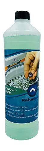 KaiserRein Ultraschallreiniger Konzentrat flüssig 1 L Ultraschall Reinigungsmittel Reiniger für Ultraschallgerät zur Profi Reinigung von Schmuck, Brillen