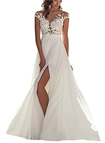 Chady Wedding Dress Chiffon Beach Wedding Dresses lace Back Long Tail Wedding Gowns Bride Dresses White