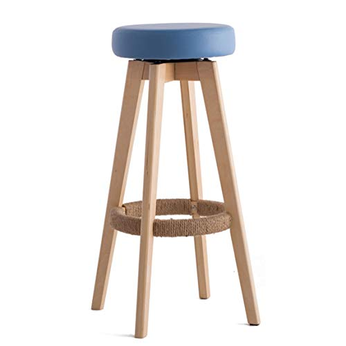 ZPWSNH barkruk barkruk hoge kruk huis massief hout barkruk moderne minimalistische stoel hout kleur kruk poten 48x48x74cm barkruk