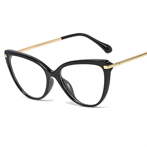 siqiwl Gafas de lectura, Moda Mujeres Ojo de Gato Gafas de Lectura Retro Gafas Marco Con Anti Azul Lentes de Luz Gafas de Metal (Color: +250, Tamaño: C1)