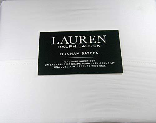 Lauren King White Dunham Sateen Sheet Set
