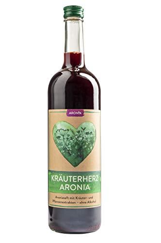 Aroniasaft aus biologisch angebauten Aroniabeeren mit 40 Kräutern und Pflanzenextrakten, 750ml, starkes Immunsystem*, Kur, Superfood, hergestellt in Bayern