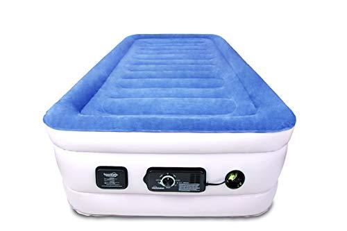 SoundAsleep Products SoundAsleep CloudNine Series Twin Air Mattress with Dual Smart Pump...