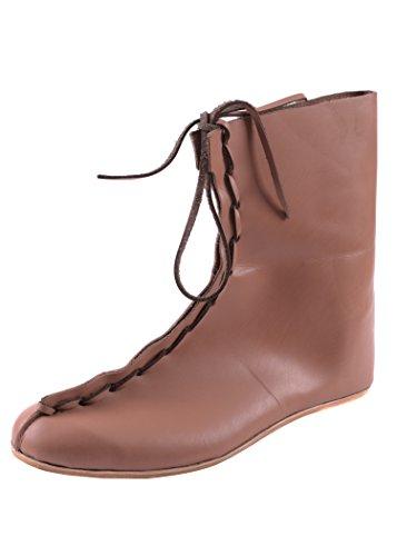 Romanas Auxiliar botas, 4th XIX n, A.C, de cuero - zapatos romanos - la Edad Media - medieval - vikingos, color marrón, talla 43