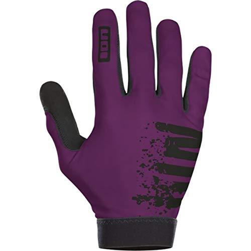 Ion Scrub Fahrrad Handschuhe lang türkis/Bordeaux rot 2019: Größe: S