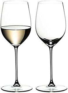 Ash & Roh® Wine Glass - Ideal for White or Red Wine Party Glass, Whisky Glass, Clear Glass, 300 ml, Set of 2