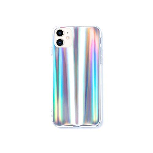 HolaStar Case for iPhone 11/XI, Rainbow Holographic Pattern Gradient Iridescent Effect Slim Thin Fit Phone Cover