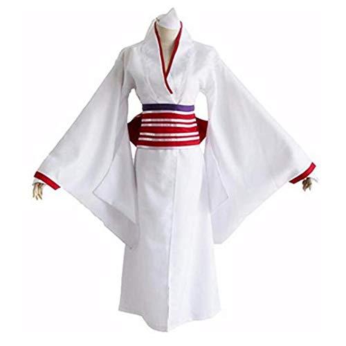 BMDHA Noragami Cosplay Nora Yukine Kimono Disfraz de Halloween Fiesta Vestido Elegante,S