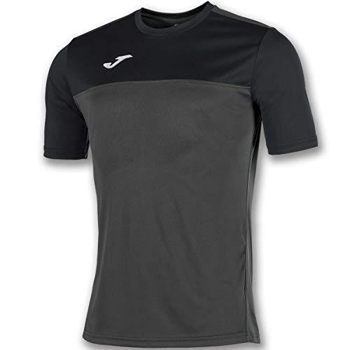 Joma Winner Camisetas Equip. M/C, Hombre, Antracita-Negro