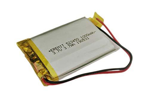 EREMIT Lithium Polymer LiPo Batterie Akku 1000mAh 523450 3.7 V 1S PCB BMS 21