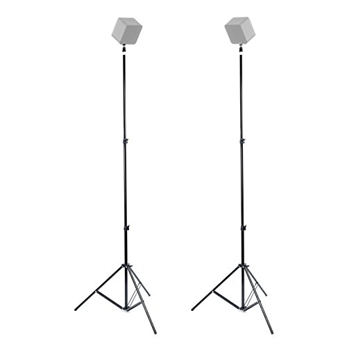 Foto&Tech 2PCS 75'/190cm Metal Adjustable VR Light Stand+1/4 Screw Mini Ball Head Hot Shoe Adapter Compatible with HTC VIVE Base Station Oculus Speedlite GoPro Photo Video Portrait/Product Photography