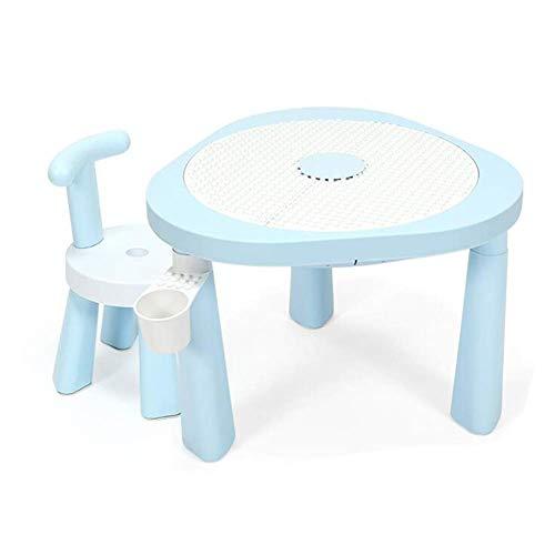 N/Z Tägliche Ausrüstung Tische Stühle Set Stark Kunststoff Garten Outdoor Indoor Schlafzimmer Spielzimmer Tisch Stuhl Aktivität Möbel 1 Tisch + 1 Stuhl