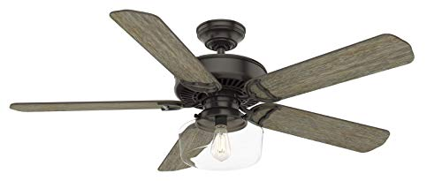 Casablanca Indoor Ceiling Fan with LED Light and wall control - Panama 54 inch, Nobel Bronze, 55083
