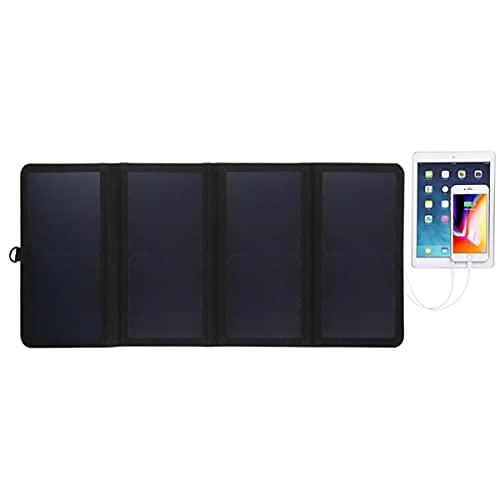 14W Ultradünnes Faltbares Solarpanel-Ladegerät Mit 5V / 2.2A USB-Anschluss, Unterstützung Von QC3.0 Und AFC Für iPhone, Tablet, Laptop, Kamera, Handy