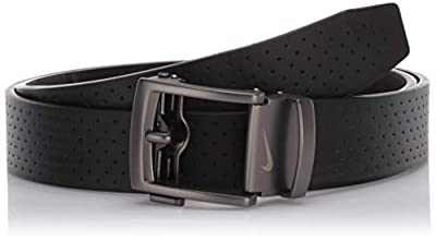 NIKE Men's ACU Fit Ratchet Belt, black - perforated, One Size
