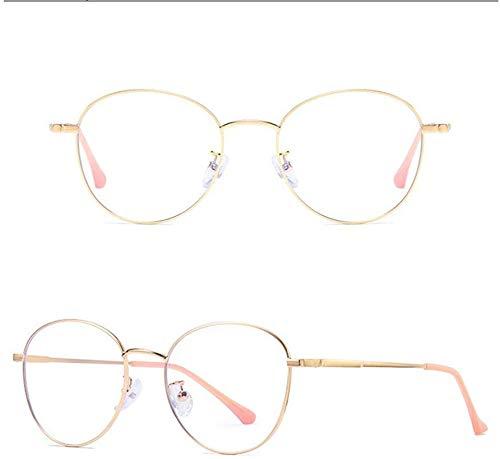 Unisex superlicht gepolariseerde zonnebril, rond metalen frame Premium PVC leesbril blauw licht en schittering blokkering geen vergrotingsglazen anti-overbelasting van de ooglens