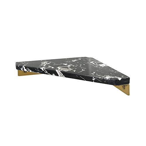 Cheapest Price! StonePlus Marble Shower Corner Shelf, Floating Shelf Wall Mounted, Shampoo Soap Hold...